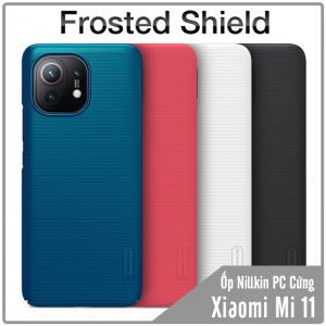 Ốp lưng cho Xiaomi Mi 11 Frosted Shield nhựa PC cứng Nillkin , Vân nhám , chống vân tay