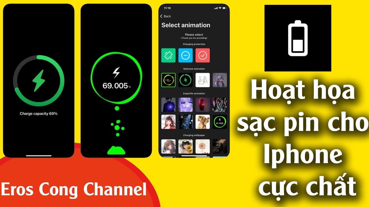Cách cài đặt Charging play tạo hoạt ảnh sạc cho iPhone
