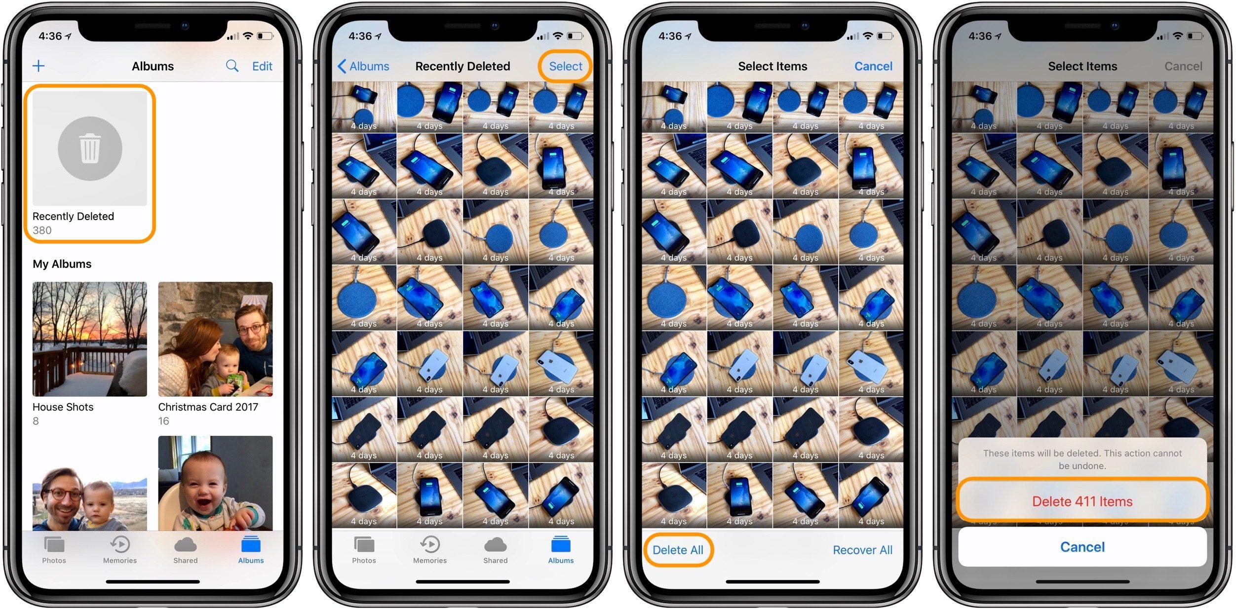 Cách xóa toàn bộ ảnh trên iPhone vĩnh viễn