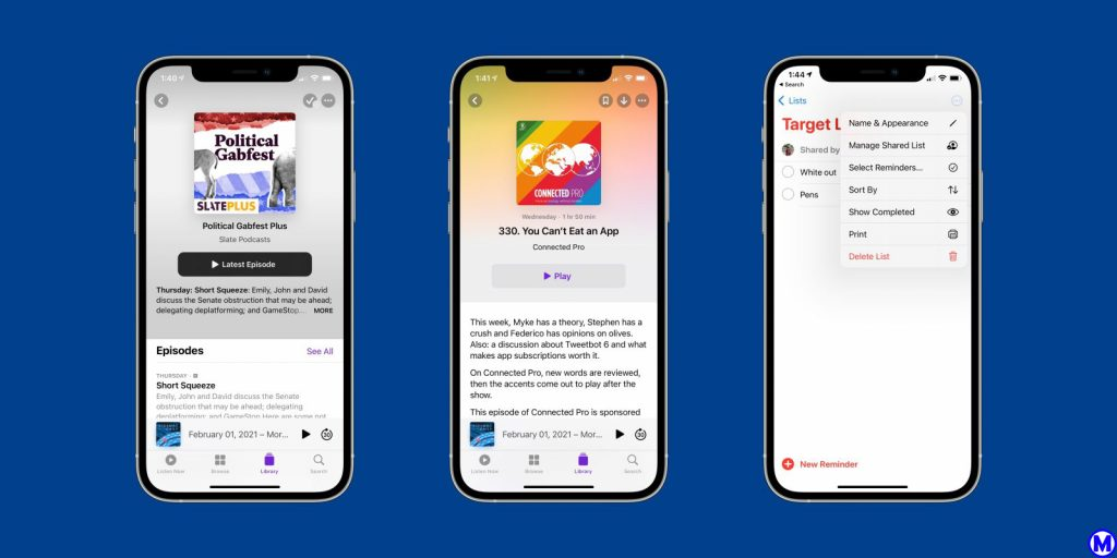 Ứng dụng podcast iOS 14.5