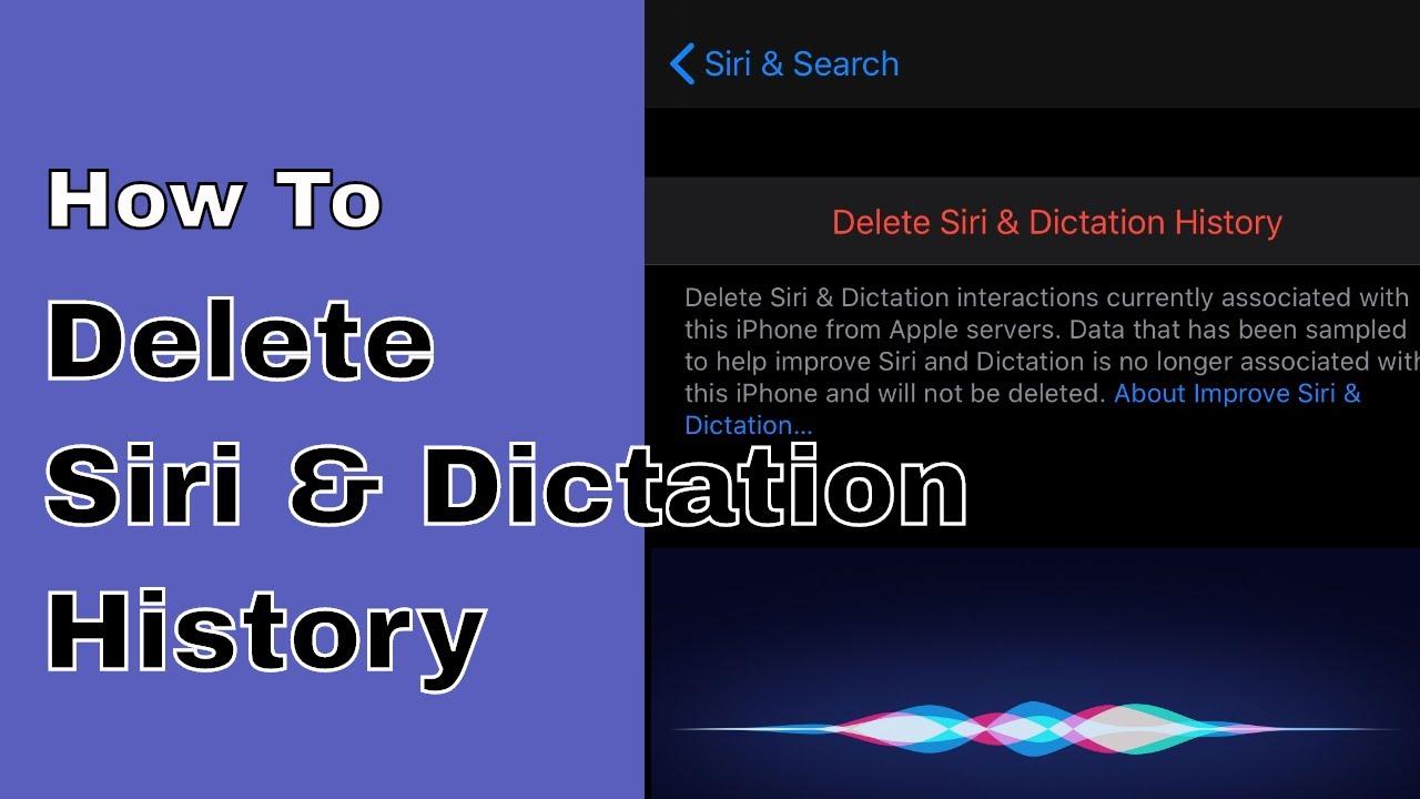 Xóa lịch sử Siri